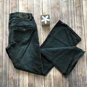 BCBGeneration Black Flared Jeans Size 28